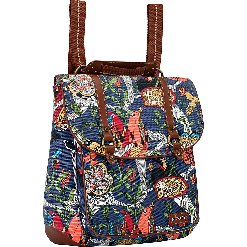 Sakroots Artist Circle Convertible Backpack River Peace - Sakroots Everyday Backpacks - Backpacks, Everyday Backpacks
