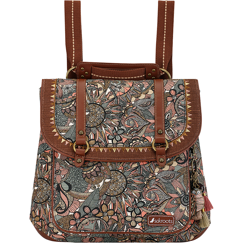 Sakroots Artist Circle Convertible Backpack Sienna Spirit Desert - Sakroots Fabric Handbags