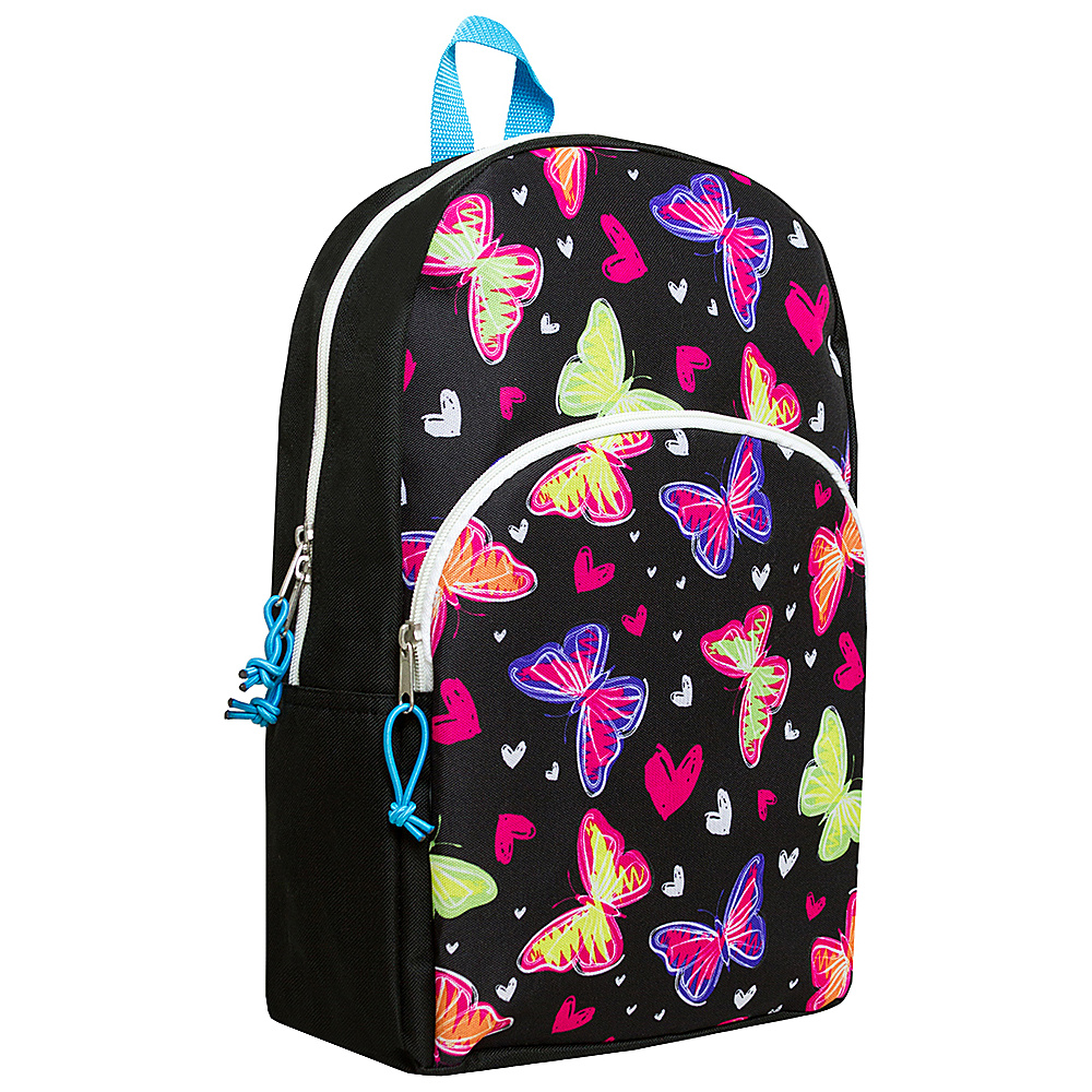 MKF Collection Girls Fun and Funky Back To School Backpack Black - MKF Collection Everyday Backpacks - Backpacks, Everyday Backpacks