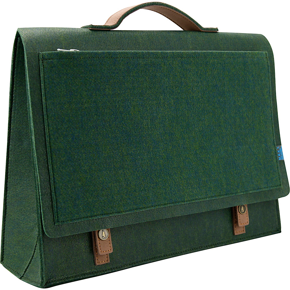 Mad Rabbit Kicking Tiger Mateo Briefcase Midnight Green Mad Rabbit Kicking Tiger Non Wheeled Business Cases
