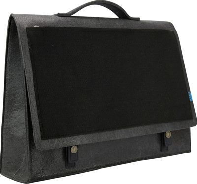 Mad Rabbit Kicking Tiger Mateo Briefcase Charcoal - Mad Rabbit Kicking Tiger Non-Wheeled Business Cases