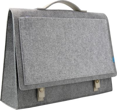 Mad Rabbit Kicking Tiger Mateo Briefcase Elephant Grey - Mad Rabbit Kicking Tiger Non-Wheeled Business Cases