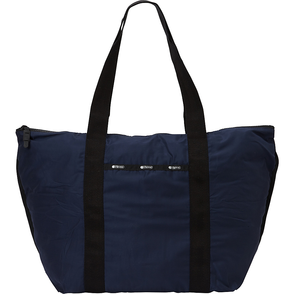 LeSportsac Travel Large On the Go Tote Classic Navy T LeSportsac Fabric Handbags