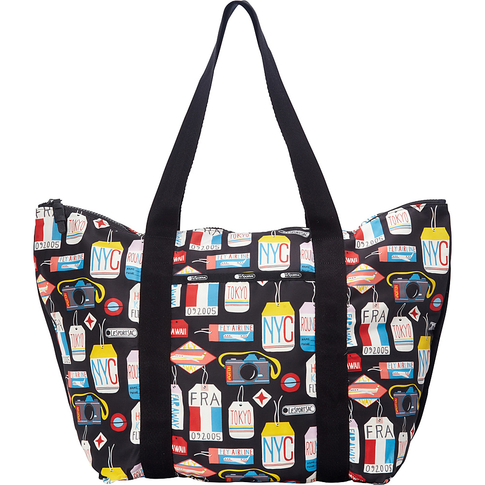 LeSportsac Travel Large On the Go Tote Boarding Pass T LeSportsac Fabric Handbags