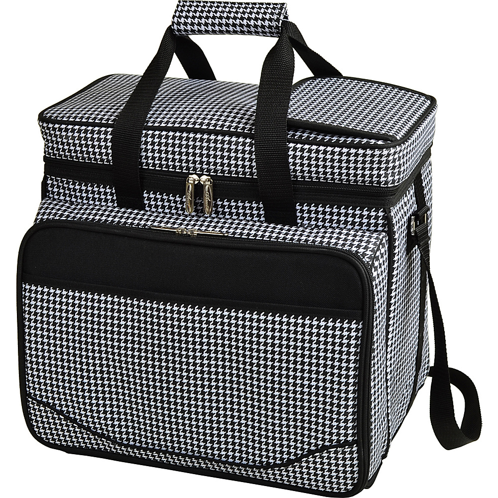 Picnic at Ascot Equipped Insulated Picnic Cooler with Service for 4 Houndstooth - Picnic at Ascot Outdoor Coolers - Outdoor, Outdoor Coolers
