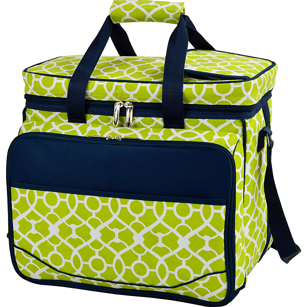 Picnic at Ascot Equipped Insulated Picnic Cooler with Service for 4 Trellis Green - Picnic at Ascot Outdoor Coolers - Outdoor, Outdoor Coolers