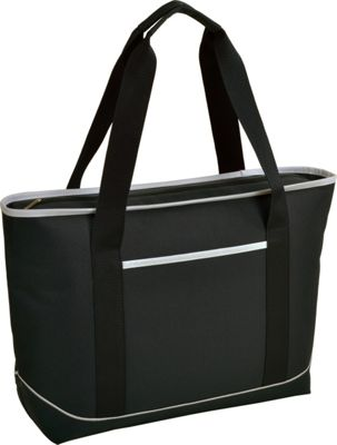 Picnic at Ascot Large Insulated Cooler Bag - 24 Can Tote Black/White - Picnic at Ascot Outdoor Coolers