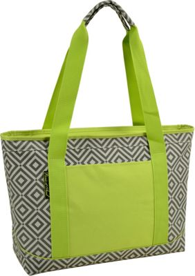 Picnic at Ascot Large Insulated Cooler Bag - 24 Can Tote Granite Grey, Green - Picnic at Ascot Outdoor Coolers