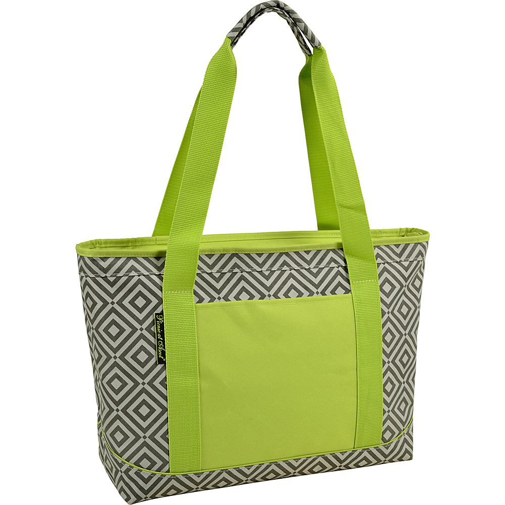 Picnic at Ascot Large Insulated Cooler Bag - 24 Can Tote Granite Grey, Green - Picnic at Ascot Outdoor Coolers - Outdoor, Outdoor Coolers