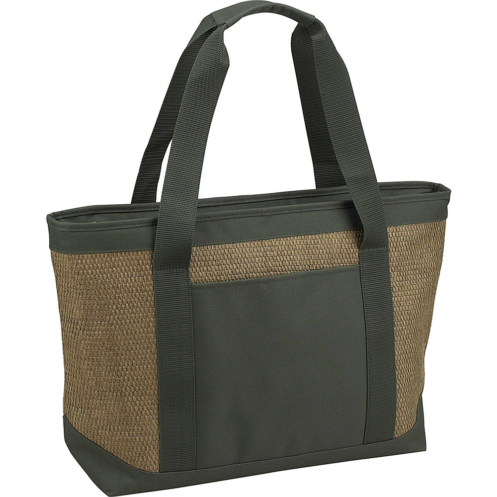 Picnic at Ascot Large Insulated Cooler Bag - 24 Can Tote Natural/Forest Green - Picnic at Ascot Outdoor Coolers - Outdoor, Outdoor Coolers