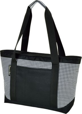 Picnic at Ascot Large Insulated Cooler Bag - 24 Can Tote Houndstooth - Picnic at Ascot Outdoor Coolers