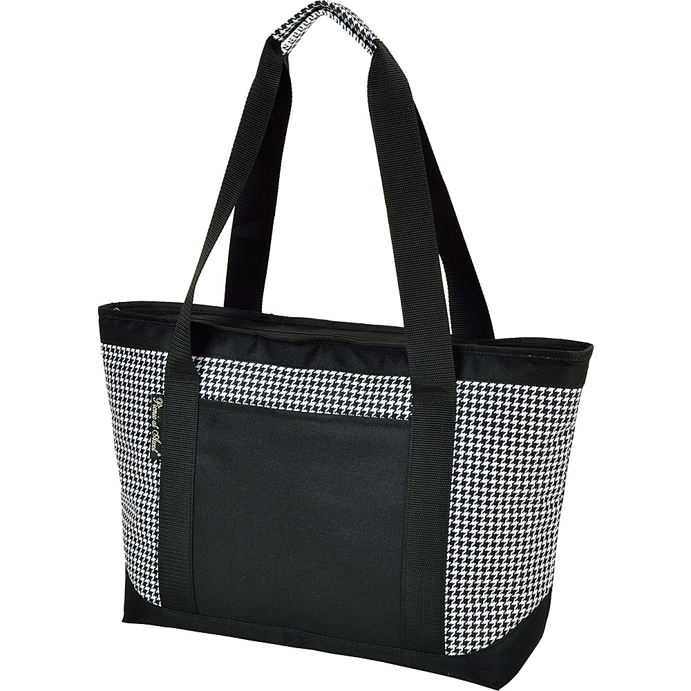 Picnic at Ascot Large Insulated Cooler Bag - 24 Can Tote Houndstooth - Picnic at Ascot Outdoor Coolers - Outdoor, Outdoor Coolers