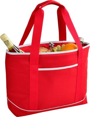 Picnic at Ascot Large Insulated Cooler Bag - 24 Can Tote Red/white - Picnic at Ascot Outdoor Coolers