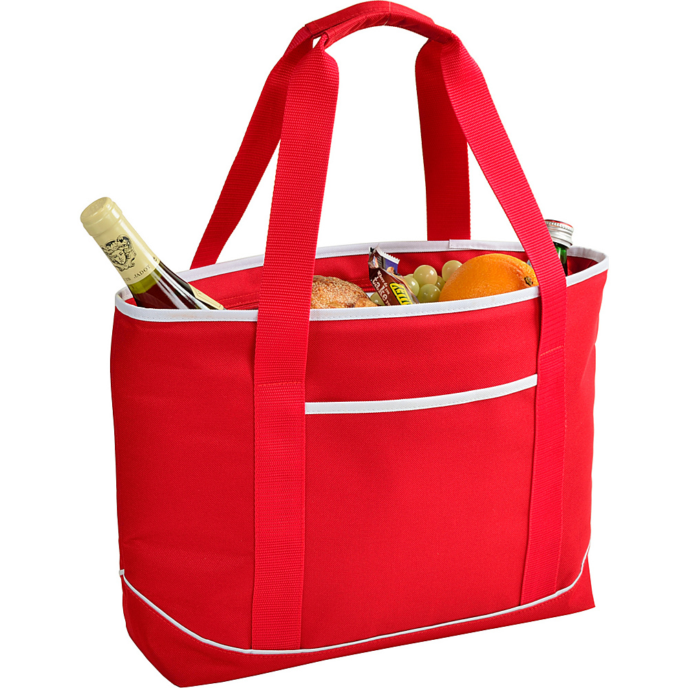 Picnic at Ascot Large Insulated Cooler Bag - 24 Can Tote Red/white - Picnic at Ascot Outdoor Coolers - Outdoor, Outdoor Coolers