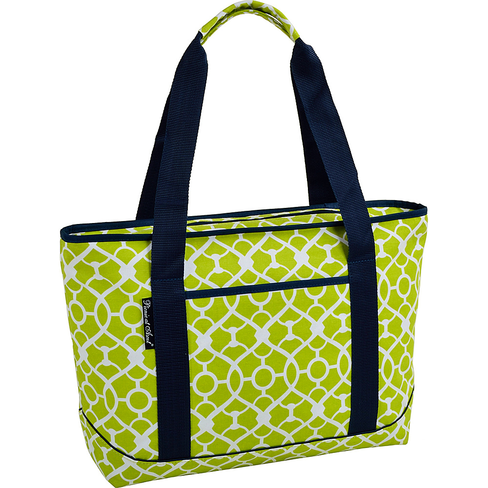 Picnic at Ascot Large Insulated Cooler Bag - 24 Can Tote Trellis Green - Picnic at Ascot Outdoor Coolers - Outdoor, Outdoor Coolers