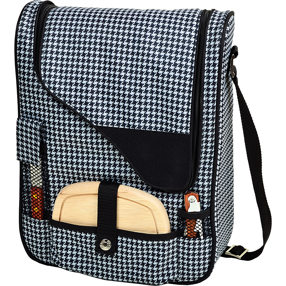 Picnic at Ascot Wine and Cheese Cooler Bag Equipped for 2 Houndstooth - Picnic at Ascot Outdoor Coolers - Outdoor, Outdoor Coolers