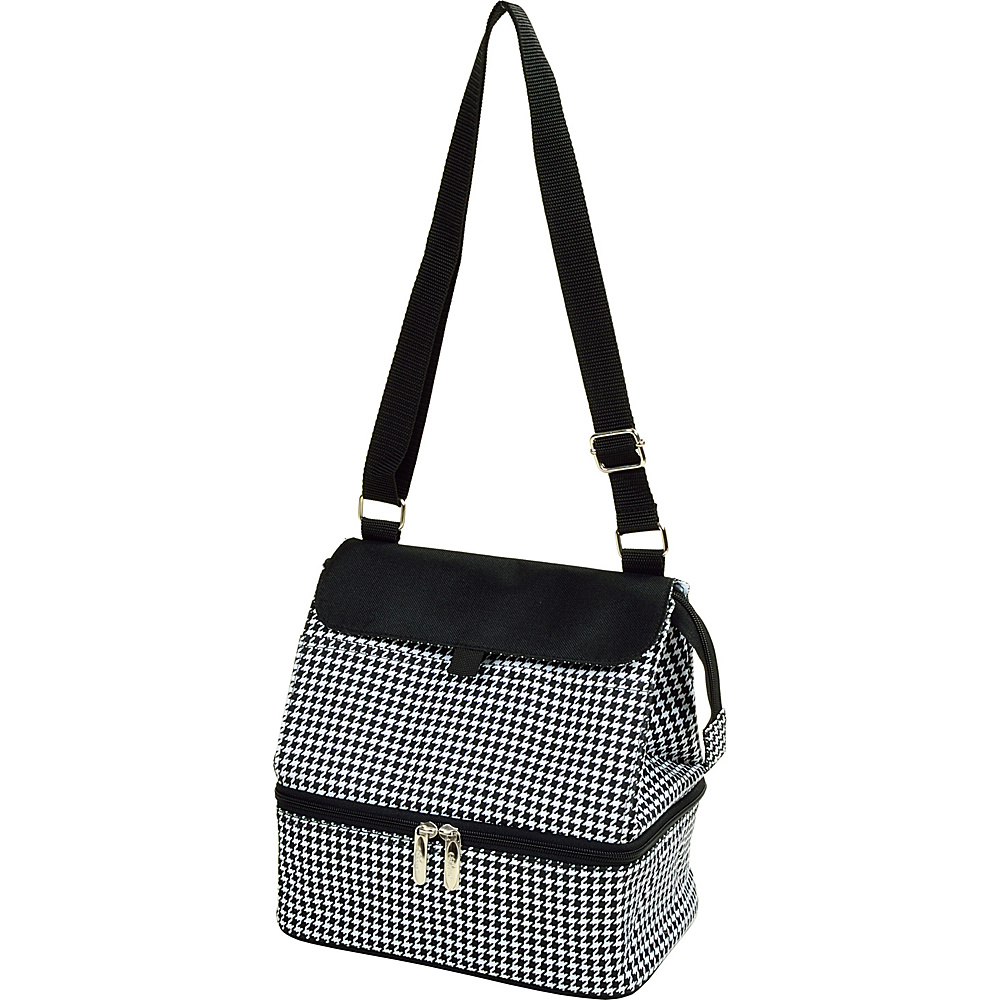 Picnic at Ascot Fashion Insulated Lunch Bag -Two Section w/Shoulder Strap Houndstooth - Picnic at Ascot Travel Coolers - Travel Accessories, Travel Coolers