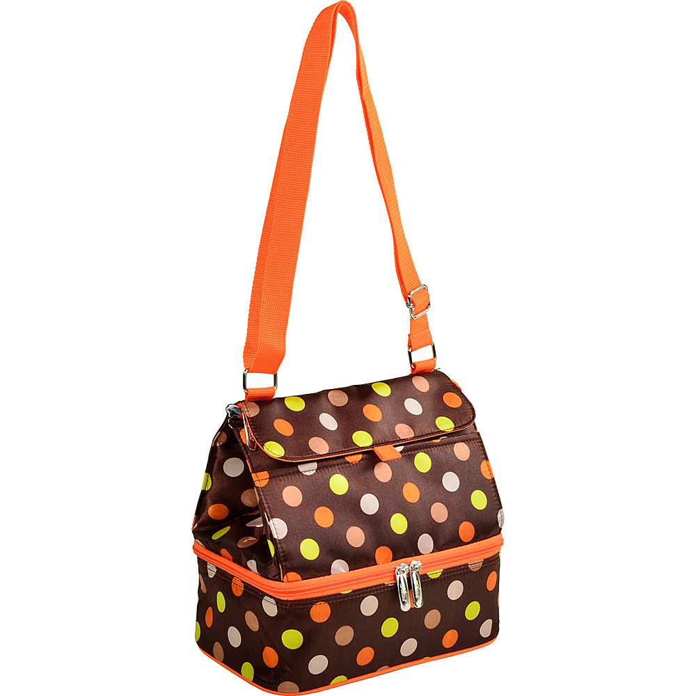 Picnic at Ascot Fashion Insulated Lunch Bag -Two Section w/Shoulder Strap Julia Dot - Picnic at Ascot Travel Coolers - Travel Accessories, Travel Coolers