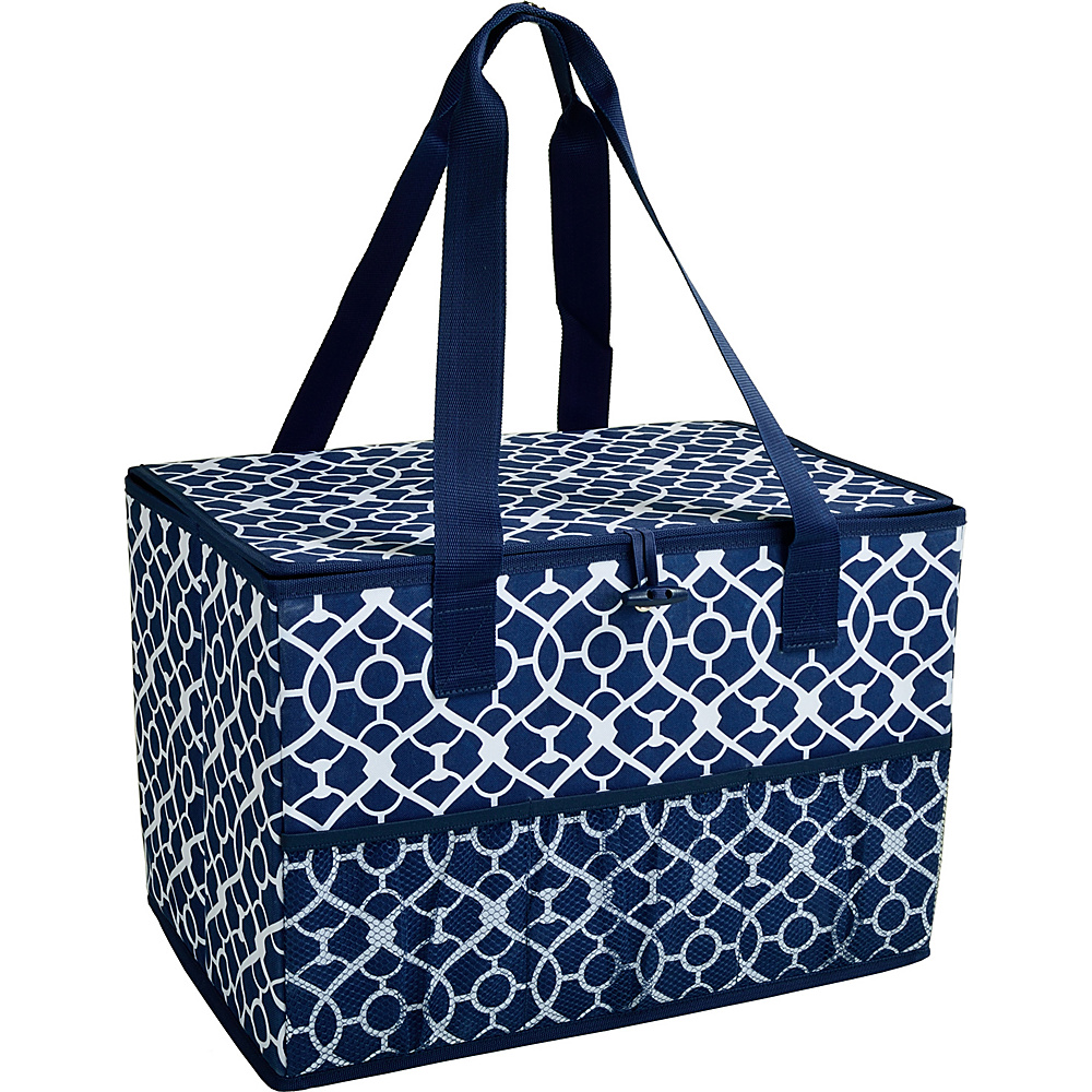 Picnic at Ascot Collapsible Storage Container/Organizer for Home and Trunk Trellis Blue - Picnic at Ascot Outdoor Coolers - Outdoor, Outdoor Coolers