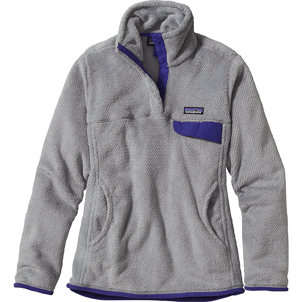 Patagonia Womens Re-Tool Snap-T Pullover S - Tailored Grey - Nickel X-Dye with Harvest Moon - Patagonia Womens Apparel - Apparel & Footwear, Women's Apparel