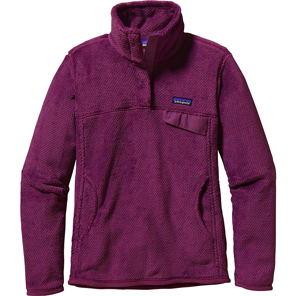 Patagonia Womens Re-Tool Snap-T Pullover XS - Violet Red - Violet Red X-Dye - Patagonia Womens Apparel - Apparel & Footwear, Women's Apparel