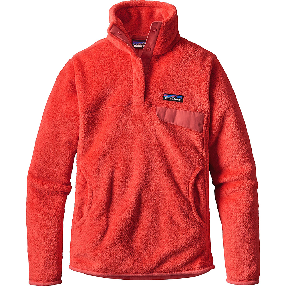 Patagonia Womens Re-Tool Snap-T Pullover XL - Carve Coral - Spiced Coral X-Dye - Patagonia Womens Apparel - Apparel & Footwear, Women's Apparel