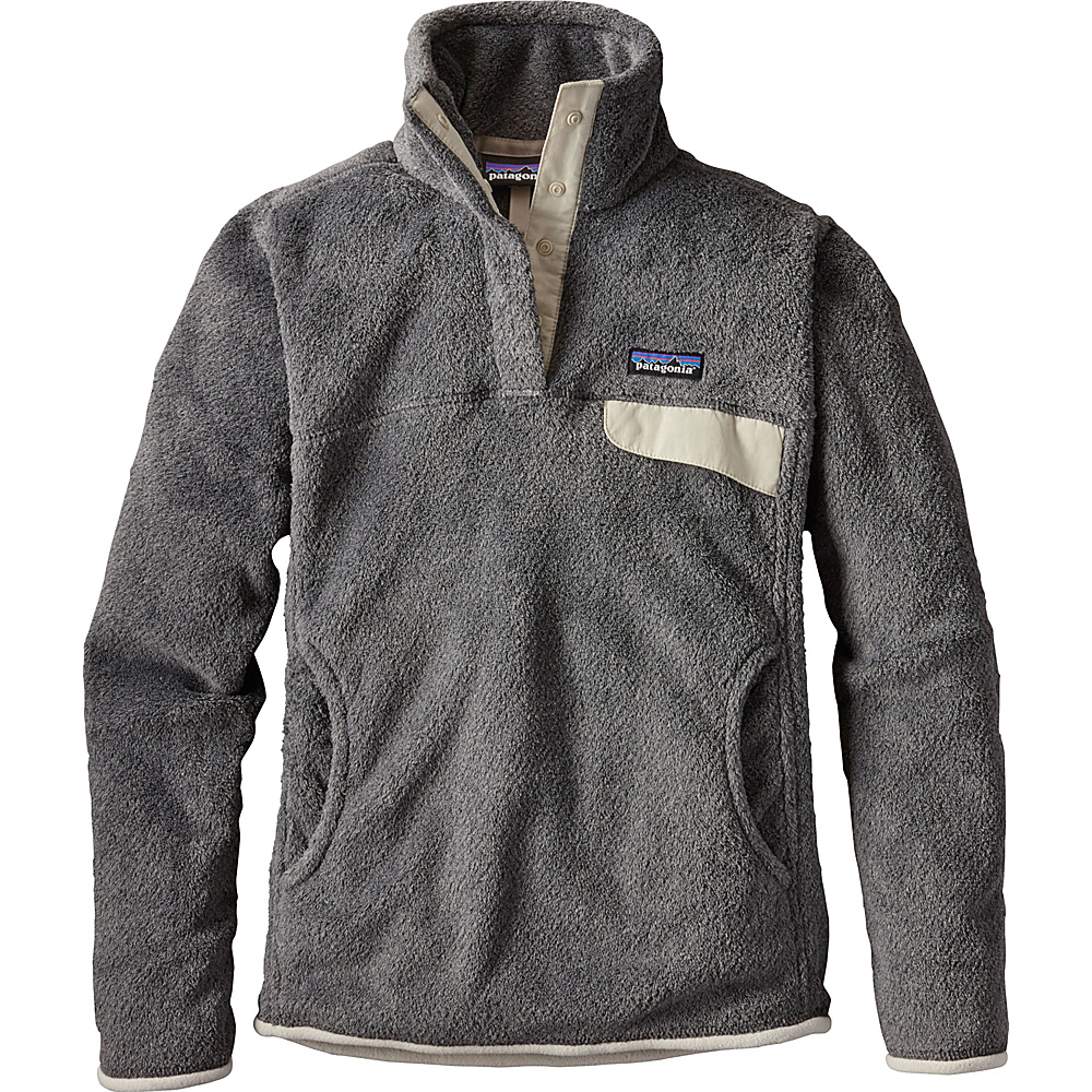 Patagonia Womens Re-Tool Snap-T Pullover XXS - Feather Grey - Ink Black X-Dye - Patagonia Womens Apparel - Apparel & Footwear, Women's Apparel