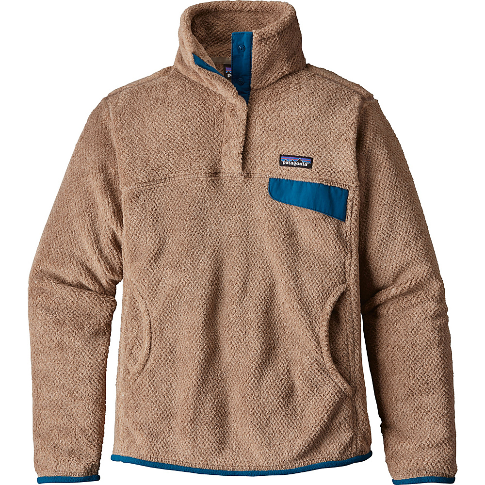 Patagonia Womens Re-Tool Snap-T Pullover XXS - Light Sesame - Bear Brown X-Dye with Big Sur - Patagonia Womens Apparel - Apparel & Footwear, Women's Apparel