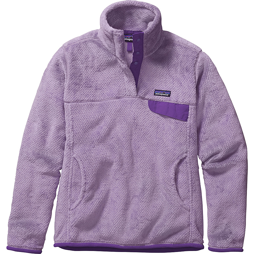 Patagonia Womens Re-Tool Snap-T Pullover XXS - Petoskey Purple - Petoskey Purple X-Dye - Patagonia Womens Apparel - Apparel & Footwear, Women's Apparel