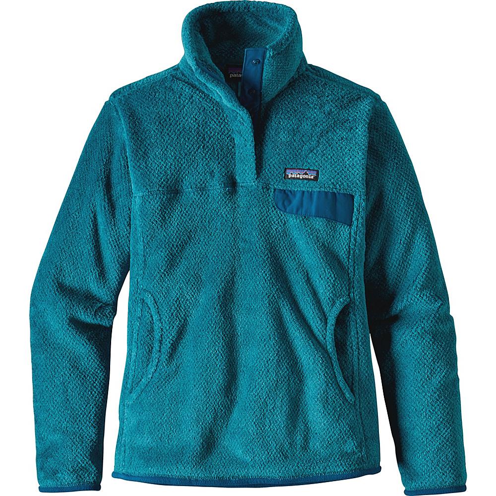 Patagonia Womens Re-Tool Snap-T Pullover XL - True Teal - Big Sur Blue X-Dye - Patagonia Womens Apparel - Apparel & Footwear, Women's Apparel
