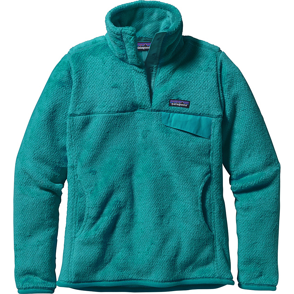 Patagonia Womens Re-Tool Snap-T Pullover M - Epic Blue - Epic Blue X-Dye - Patagonia Womens Apparel - Apparel & Footwear, Women's Apparel