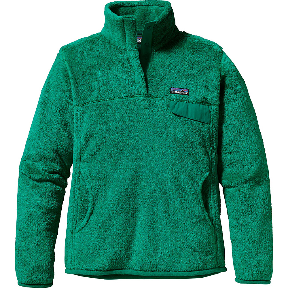 Patagonia Womens Re-Tool Snap-T Pullover XS - Impact Green - Impact Green X-Dye - Patagonia Womens Apparel - Apparel & Footwear, Women's Apparel