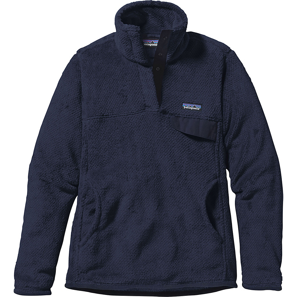 Patagonia Womens Re-Tool Snap-T Pullover S - Navy Blue - Navy Blue X-Dye - Patagonia Womens Apparel - Apparel & Footwear, Women's Apparel