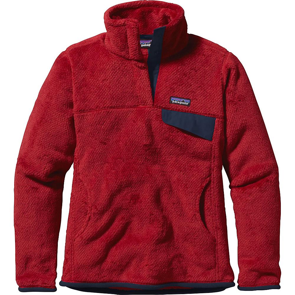 Patagonia Womens Re-Tool Snap-T Pullover S - Raspen Red - Raspen Red X-Dye - Patagonia Womens Apparel - Apparel & Footwear, Women's Apparel