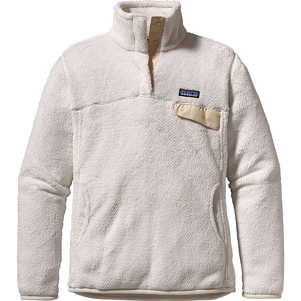 Patagonia Womens Re-Tool Snap-T Pullover S - Raw Linen - White X-Dye - Patagonia Womens Apparel - Apparel & Footwear, Women's Apparel
