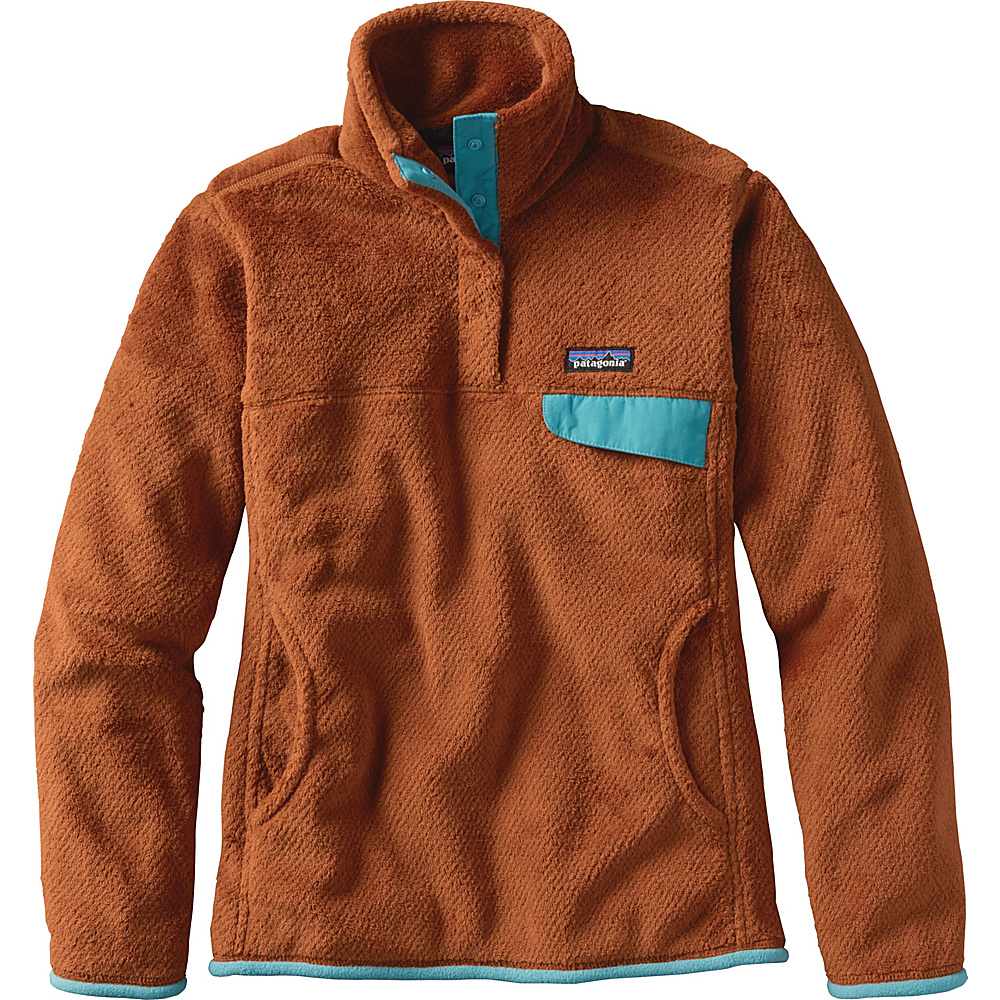 Patagonia Womens Re-Tool Snap-T Pullover L - Saddle - Saddle X-Dye - Patagonia Womens Apparel - Apparel & Footwear, Women's Apparel