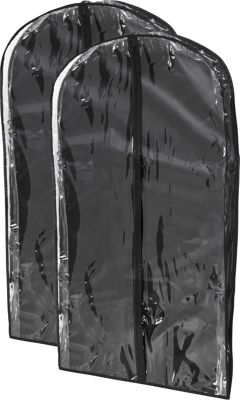 Honey-Can-Do Honey-Can-Do 2-Pack Suit Bag Black - Honey-Can-Do Garment Bags