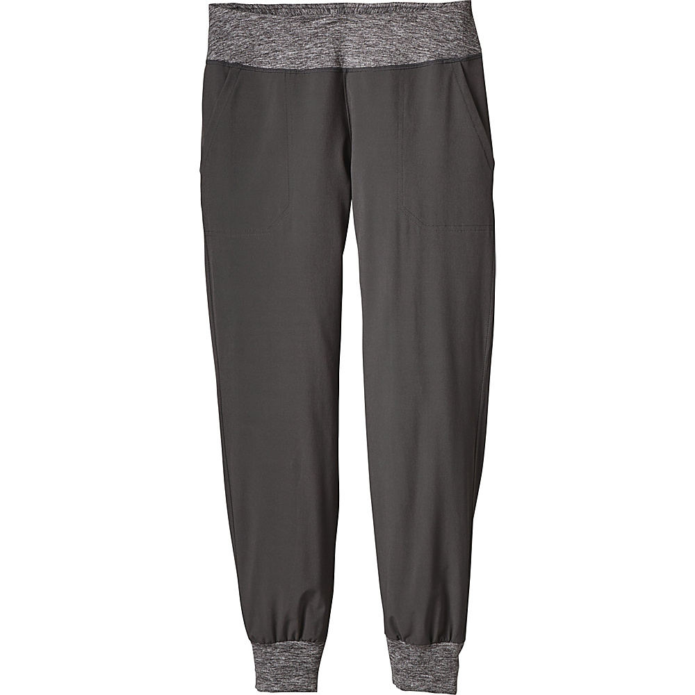 Patagonia Womens Happy Hike Studio Pants L - Forge Grey - Patagonia Womens Apparel - Apparel & Footwear, Women's Apparel