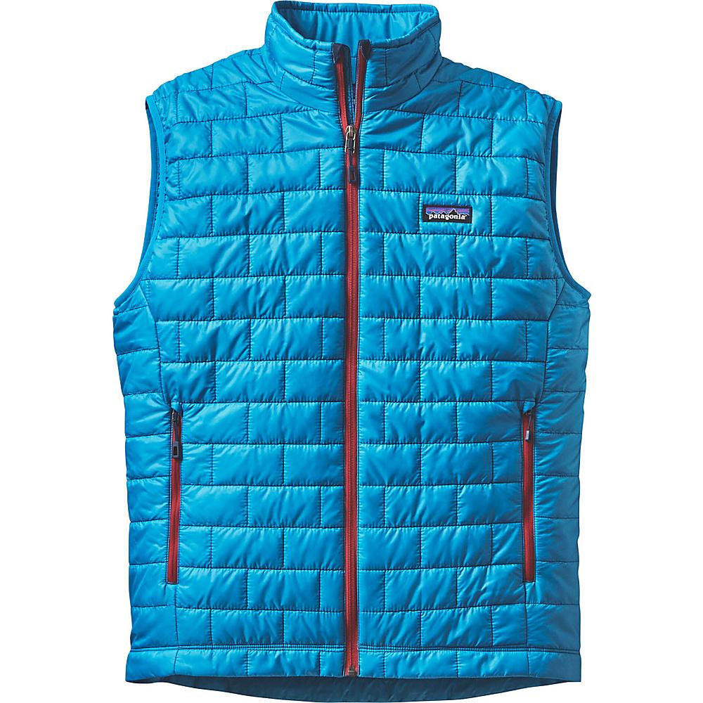 Patagonia Mens Nano Puff Vest S - Grecian Blue - Patagonia Mens Apparel - Apparel & Footwear, Men's Apparel