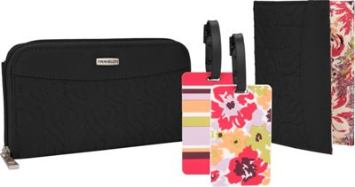 Travelon RFID Wallet, Passport Case and Luggage Tag Travel Set Black - Travelon Travel Wallets 10477639
