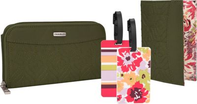 Travelon RFID Wallet, Passport Case and Luggage Tag Travel Set Olive - Travelon Travel Wallets