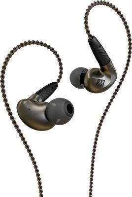 MEE Audio Pinnacle P1 High Fidelity Audiophile In-Ear Headphones with Detachable Cables Black - MEE Audio Headphones & Speakers