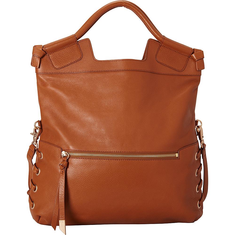 Foley Corinna La Trenza City Tote Honey Brown Foley Corinna Designer Handbags