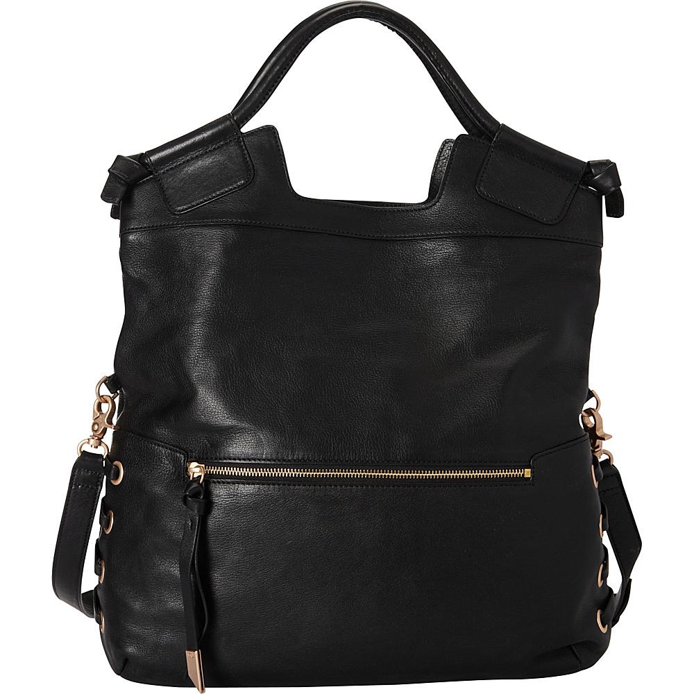 Foley Corinna La Trenza City Tote Black Foley Corinna Designer Handbags