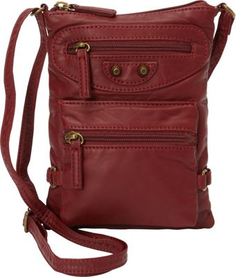 Ampere Creations Jassy Mini Crossbody Burgundy - Ampere Creations Manmade Handbags