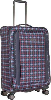 Ben Sherman Luggage Brighton Collection 24 inch Spinner Navy - Ben Sherman Luggage Large Rolling Luggage