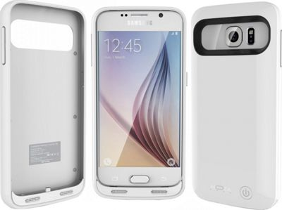 Mota Samsung S6 Premium Extended Battery Case White - Mota Electronic Cases