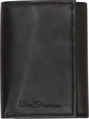 Ben Sherman Luggage Kensington Collection Leather Trifold Wallet Black - Ben Sherman Luggage Men's Wallets