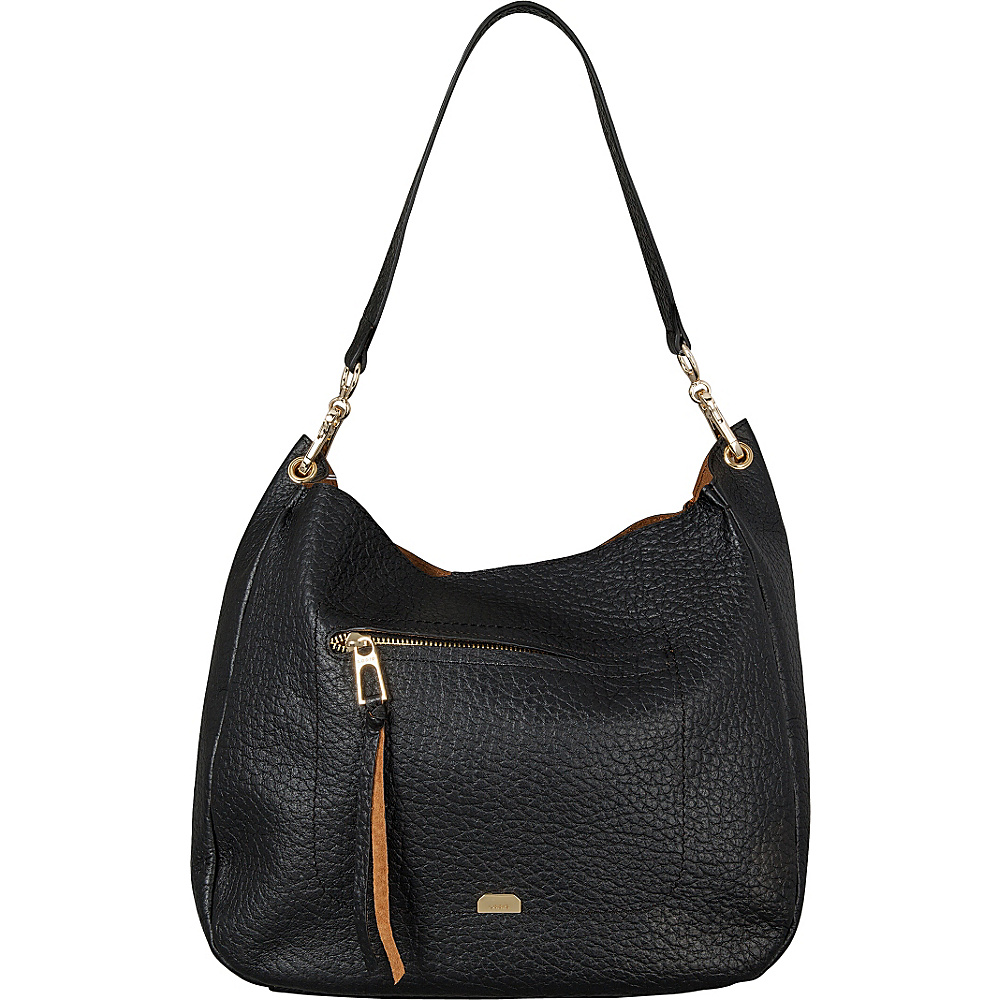 Lodis Borrego Under Lock and Key Nanda Hobo Black - Lodis Leather Handbags - Handbags, Leather Handbags