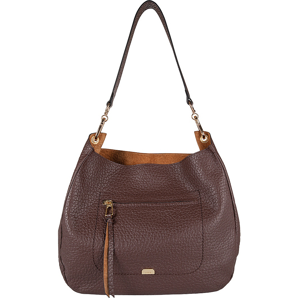 Lodis Borrego Under Lock and Key Nanda Hobo Dark Brown - Lodis Leather Handbags - Handbags, Leather Handbags